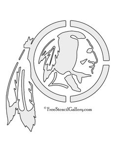 NFL-Washington-Redskins-Stencil.jpg (850×1100)