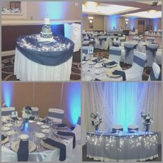 Navy Blue Wedding Centerpieces Reference For Wedding Decoration
