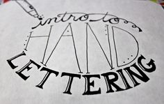 Intro To Hand Lettering - Made By Marzipan