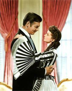 Scarleth O'hara (Vivien Leigh) e Rhet Butler (Clark Gable) - E o vento levou...