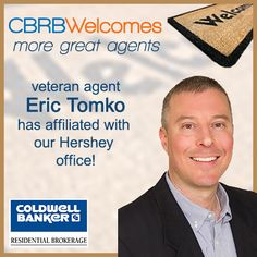 Please warmly welcome veteran agent Eric Tomko who has affiliated with our Hershey office!