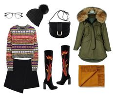 """""""Winter flowers"""" by stacyco ❤ liked on Polyvore featuring MARC CAIN, Jeffrey Campbell, A.P.C., Black and Ray-Ban"""