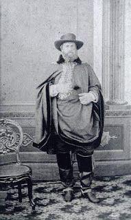 D. Pedro II (Vestido de Gaucho) quando esteve em Sao jose-SC, onde realizou-se o que hoje chamamos de o Primeiro Rodeio do Brasil.