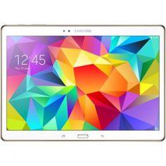 """La Galaxy Tab S de Samsung est une tablette fonctionnelle et ultraportable, dotée d'un écran capacitif de 10,5"""". Affichant plus de 16 millions de couleurs, sa dalle super AMOLED offre une résolution de 2560 x 1600 pixels et des images aux couleurs éclatantes.Fine et légère, cette tablette profite d'une finition irréprochable et d'un design de haute qualité. Tournant sous Android KitKat, la Samsung Galaxy Tab S est d'une réactivité à toute épreuve grâce à son double processeur et ses 3 Go de…"""