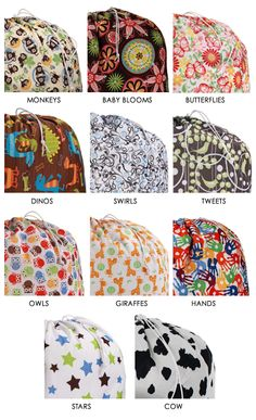 Reusable Large Pail Liner Bag for Cloth Diapers or Laundry Butterfly