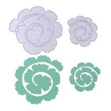 2pcs Rose Flower Roll Metal Cutting Dies Stencils for DIY Scrapbooking Photo Album Decorative Embossing DIY Paper Cards PTSP(China (Mainland))