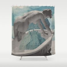 Shower Curtains, Collage, Water, Gripe Water, Collages, Collage Art, Colleges
