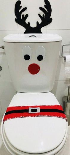 Christmas Bathroom, Office Christmas, Christmas Art, Christmas Projects, Simple Christmas, Christmas Holidays, Christmas Ornaments, Easy Christmas Decorations, 242