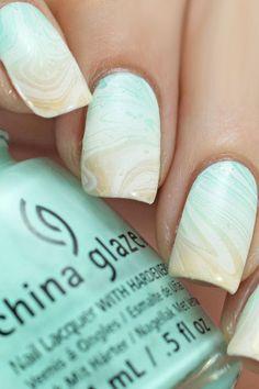 30 Pinterest Nails Ideas You Will Like ❤ pinterest nails summer blue with white copycatclaws ❤ See more: http://www.weddingforward.com/pinterest-nails/ #wedding #bride #weddinnails #nails