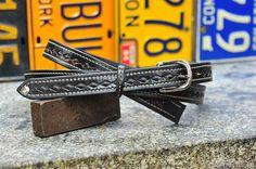 The Crazy Diamond  a 1 wide custom leather by stevebleatherworks