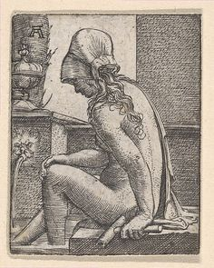 Seated Woman Bathing Her Feet Albrecht Altdorfer (German, (?) ca. 1480–1538 Regensburg)