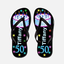 Fab 50th Flip Flops Show off how fabulous you are at 50 with our chic and unique personalized 50th birthday flip flops. http://www.cafepress.com/flipflopfrenzy/12585226 #50yearsold #Happy50thbirthday #50thbirthdaygift #50thflipflops #Personalized50th #Happy50thflipflops