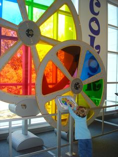 Huntsville Museum of Art color wheels, on a small scale would demonstrate color mixing and color families.