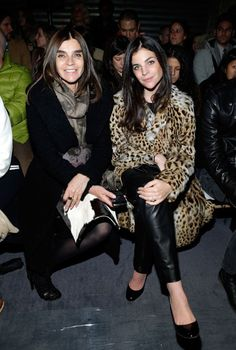 Carine Roitfeld and Julia Restoin Roitfeld at Proenza Schouler Front Row, NEW YORK FASHION WEEK FALL 2013