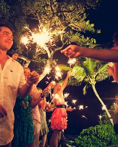 "See the ""Sparklers"" in our A Traditional Hawaiian Wedding in Maui gallery Maui Weddings, Island Weddings, Real Weddings, Destination Weddings, Sister Wedding, Hawaii Wedding, Garden Wedding Decorations, Home Wedding, Wedding Exits"