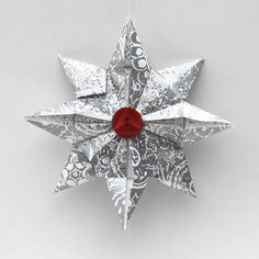 origami oranaments | origami, ornament, Christmas, homemade, How to, DIY, star, paper