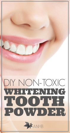 Can& wait to try this: DIY tooth whitening powder. Homemade Beauty Products, Natural Cleaning Products, Teeth Whitening Diy, Tooth Powder, Young Living Essential Oils, Face And Body, Natural Health, Body Care, Health And Beauty