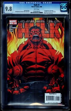CGC 9.8 WP HULK #1 1ST RED HULK NM/MT