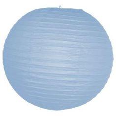 12 Inch Light Blue Paper Lanterns