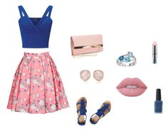 """""""Classy pink and blue flowers"""" by marissarocks-1 on Polyvore featuring ERIN Erin Fetherston, Miss Selfridge, Dorothy Perkins, New Look, Monica Vinader, Lime Crime, MAC Cosmetics and Kester Black"""