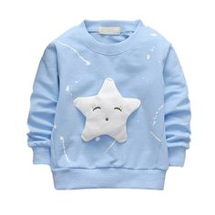 2017 Autumn Winter Fashion Children Cartoon Long Sleeve O-Neck T-shirt All-match Star Top Baby Girl Baby Clothing for 1-5T Kids #Affiliate