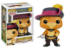 This is a Shrek Puss in Boots Funko POP Vinyl Figure that is produced by the neat folks over at Funko. Puss in Boots looks fantastic in his Funko POP Vinyl form and it's great to see the Shrek charact Funk Pop, Pop Figurine, Figurines Funko Pop, Funko Figures, Disney Pop, Pixar, Pop Vinyl Figures, Pop Figures Disney, Dreamworks