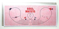 Soul Mateys Nautical Letterpress Card | Suzy Ultman + Igloo Letterpress