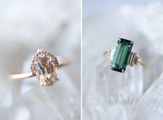 4 Reasons to Consider Gemstones for Your Engagement Ring - Green Wedding Shoes Colored Engagement Rings, Pear Shaped Engagement Rings, Alternative Engagement Rings, Gemstone Engagement Rings, Alternative Wedding, Unique Diamond Rings, Vintage Diamond Rings, Gold Diamond Wedding Band, Diamond Bands