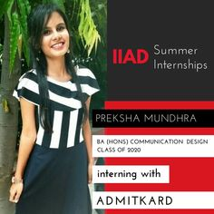 Way to go Preksha!  We're sure you're going to learn some amazing skills during your summer internship  with AdmitKard.  The team at AdmitKard aspire to make global education accessible to every student through the application of digital data and analytics.