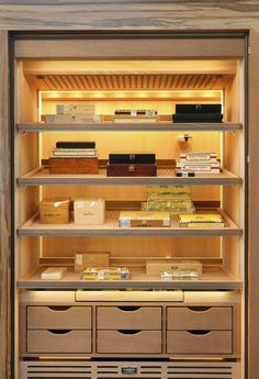 Searching for a humidor cigar cabinet? Gerber Humidors specialize in manufacturing luxurious cigar humidors with various dimensions and equipment variants. Wardrobe Furniture, Bar Furniture, Modern Furniture, Furniture Design, Automotive Furniture, Automotive Decor, Whisky, Cigar Lounge Man Cave, Cigar Humidor Cabinet