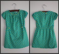green and teal dress from Anthropologie knock off pattern for little girls #diy #clothes #refashion