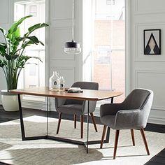 "Midcentury Modern Rivet Julie Mid-Century Swope Accent Dining Chair, 23.6"" W, Ash Grey"