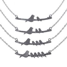These simple yet charming bird necklaces are a great present from you and your (one, two, or three) siblings!