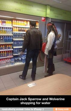 Jack Sparrow and Wolverine shopping / iFunny :)