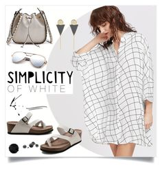 """Simplicity of White"" by mahafromkailash ❤ liked on Polyvore featuring WithChic"
