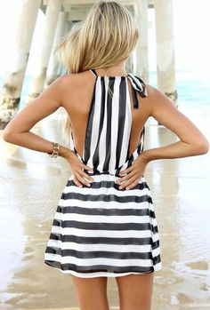 black + white summer dress