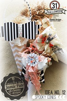 Idea No. 12: Love these candy cones created by Jamie Pate for Rhonna Designs.
