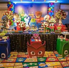 Found on Google from pinterest.com Frozen Birthday Party, King Birthday, 3rd Birthday Parties, Birthday Ideas, Curious George Party, Pj Mask Party Decorations, Party Themes, Party Ideas, Decoracion Pj Mask
