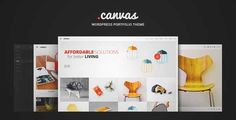 Download and review of Canvas Interior & Furniture Portfolio WP Theme, one of the best Themeforest Creatives themes