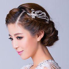 Women Rhinestone/Alloy Hairpins With Rhinestone Wedding/Party Headpiece – USD $ 14.99