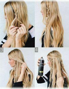 Такая прическа подходит девушкам со светлыми волосами