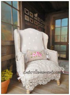 Dollhouse Miniature Custom Handmade Romantic by cinderellamoments, $130.00 SOLD
