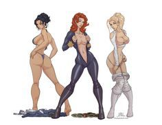 MARIA HILL, NATASHA ROMANOFF AND SHARON CARTER WOMEN OF S.H.I.E.L.D.