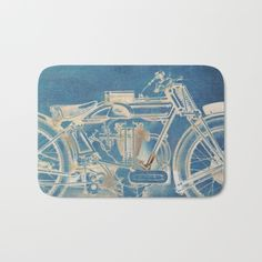 Ghost Motorbike Bath Mat