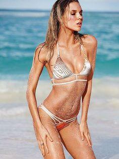 It doesn't get more glamorous than this shimmery bikini. / VS Swim 2014
