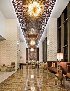 The lobby of the new Waldorf Astoria Panama, designed by Ba-Haus/KNF