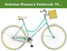Schwinn Women's Fairbrook 700C Cruiser Bicycle, Mint/Yellow, 16-Inch. The Schwinn Fairbrook 700c Women's Dutch cruiser bicycle is the perfect bike for crusing the neighborhood, bike path or just going out for a liesurly ride. Equipped with a Schwinn easy step through steel cruiser frame and fork offers an easy, comfortable upright riding position, the full fenders help keep the water off you in the rain. Foot brake for sure stopping, The alloy wheel are lightweingth and strong and the…