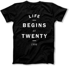 Funny Birthday Gift Ideas For Him 20th Birthday T Shirt Bday