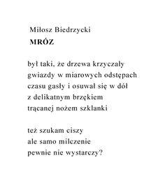 Miłosz Biedrzycki - Mróz #wiersze #poezja #polska