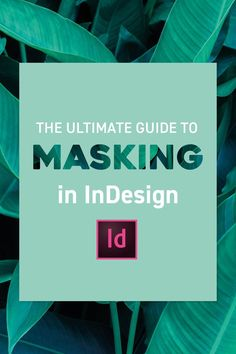 Masking in InDesign is just as important as in Photoshop and Illustrator, so in this video I'm going to walk you through all the different ways you can show a Graphic Design Tools, Web Design, Graphic Design Tutorials, Tool Design, Graphic Design Inspiration, Creative Design, Vector Design, Creative Suite, Layout Inspiration